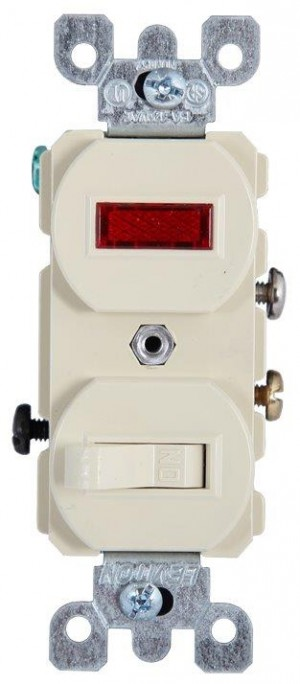 Switch Single-Pole Ivory  *3ELE00V0277*